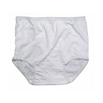 Ladies 100% White Nylon Briefs (12 Pack)
