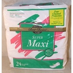 Super Maxi Pads with Adhesive Strip