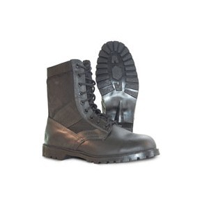 "Black Leather 8"" Boot"